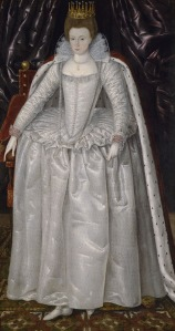 Elizabeth Vernon, Countess of Southampton. British School. Oil on canvas, height 188 cm, width 109 cm, circa 1603.