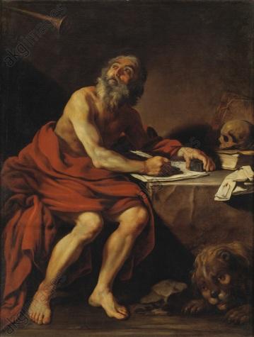Claude Vignon: Den helige Hieronymus uppenbarelse. NM 5427
